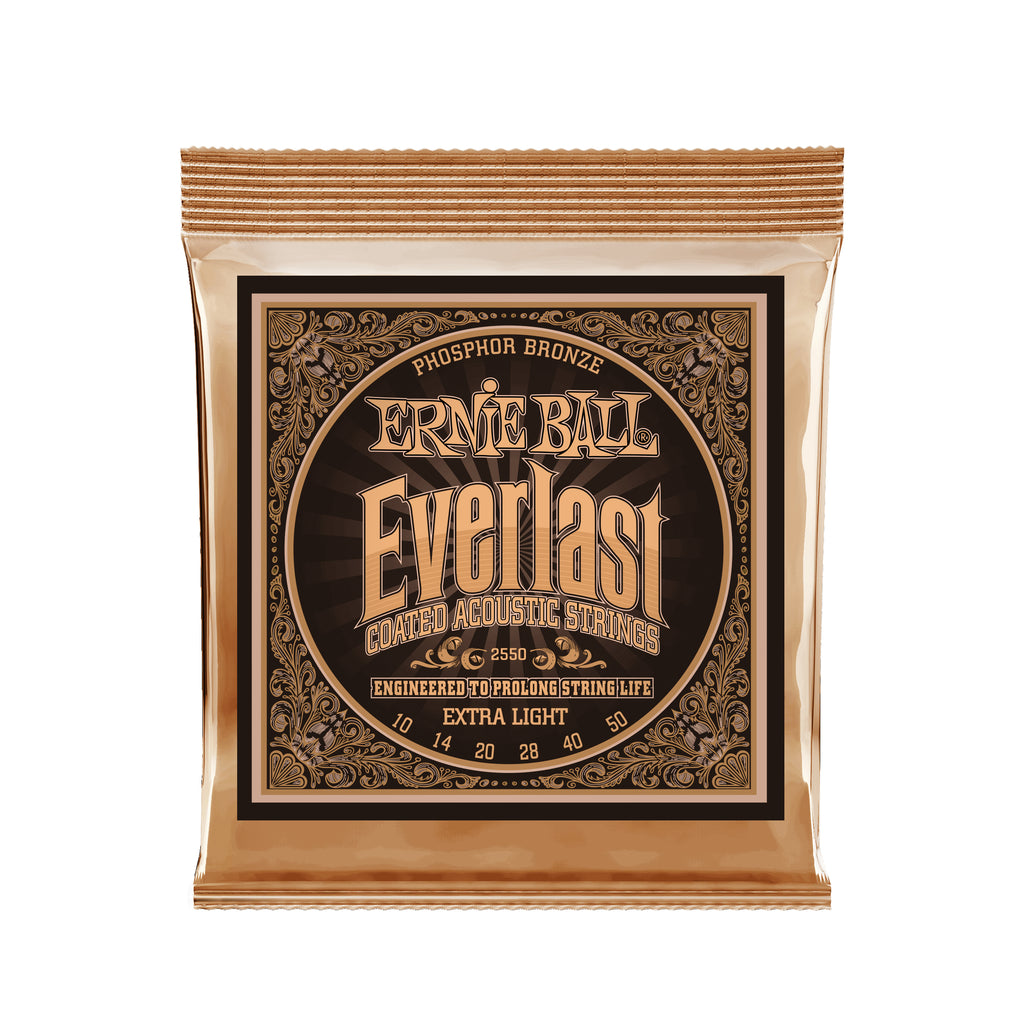 Ernie Ball Everlast Extra Light Phosphor Bronze Acoustic Guitar Strings - 10-50