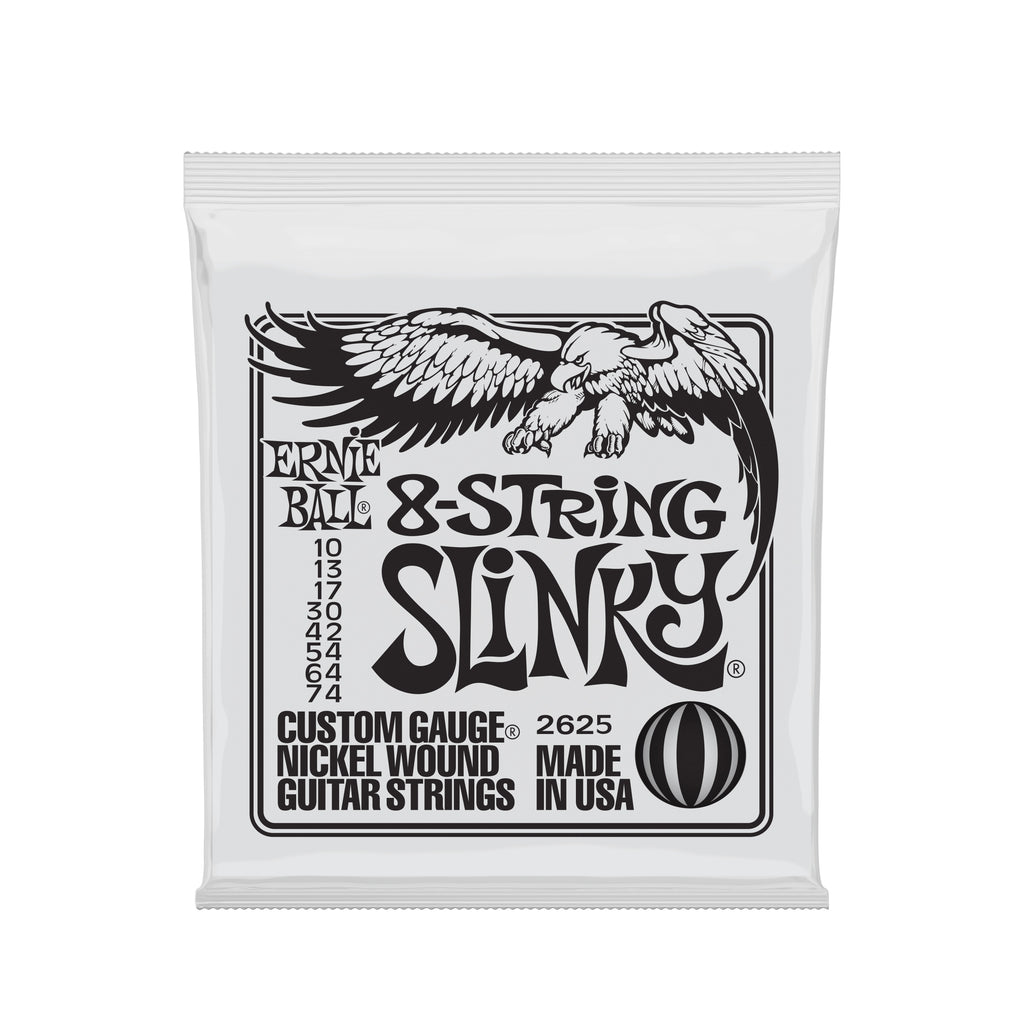 Ernie Ball Slinky 8-String Nickel Wound Electric Guitar Strings - 10-74 Gauge