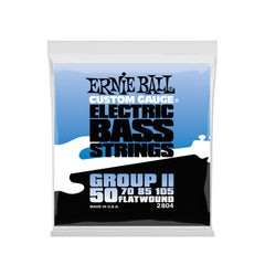 Ernie Ball Flatwound Group II Electric Bass Strings - 50-105 Gauge