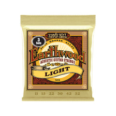 Ernie Ball Earthwood Light 80/20 Bronze Acoustic Guitar Strings 3-Pack - 11-52