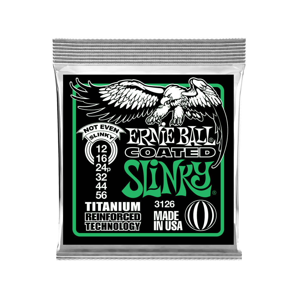 Ernie Ball Not Even Slinky Coated Titanium RPS Electric Guitar Strings 12-56