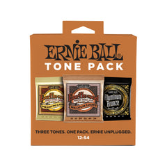 Ernie Ball Medium Light Acoustic Guitar String Tone Pack - 12-54 Gauge