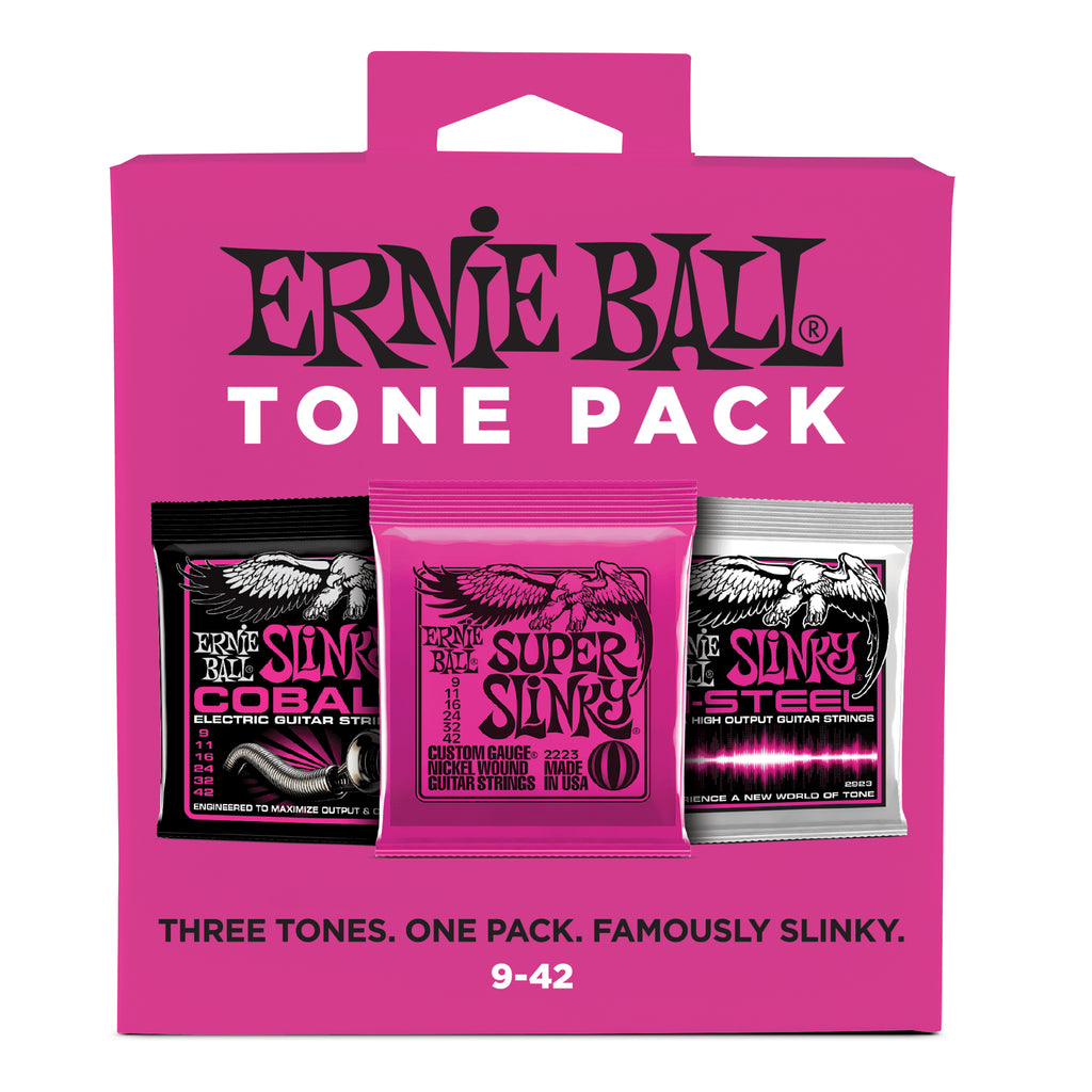 Ernie Ball Super Slinky Electric Guitar Strings Tone Pack - 9-42 Gauge