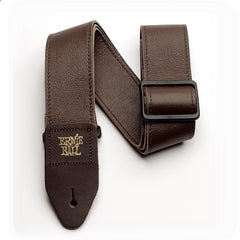 "Ernie Ball 2"" Tri-Glide Italian Leather Guitar Strap Brown"