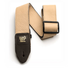 "Ernie Ball 2"" Tri-Glide Italian Leather Guitar Strap Tan"
