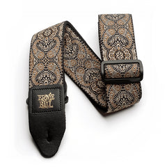Ernie Ball Gold & Black Paisley Jacquard Guitar Strap