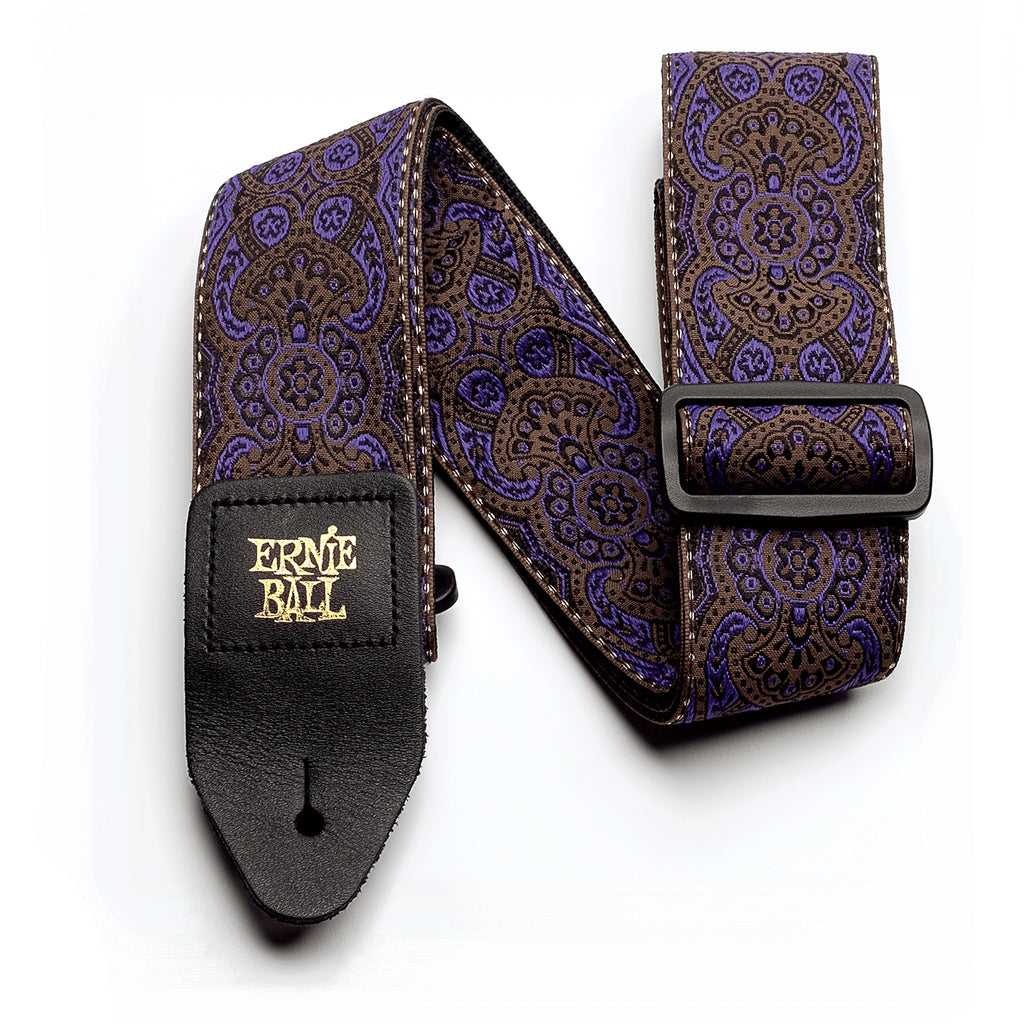 Ernie Ball Purple Paisley Jacquard Guitar Strap