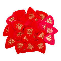 Ernie Ball Thin Red Cellulose Picks, bag of 144