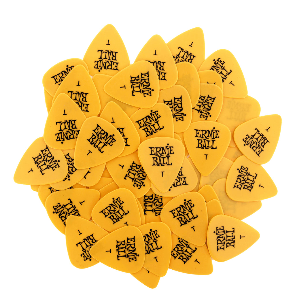 Ernie Ball Thin Yellow Cellulose Picks, bag of 144