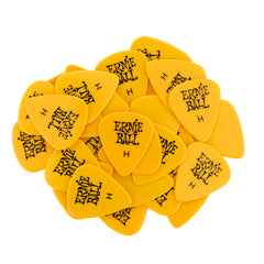 Ernie Ball Heavy Yellow Cellulose Picks, bag of 144
