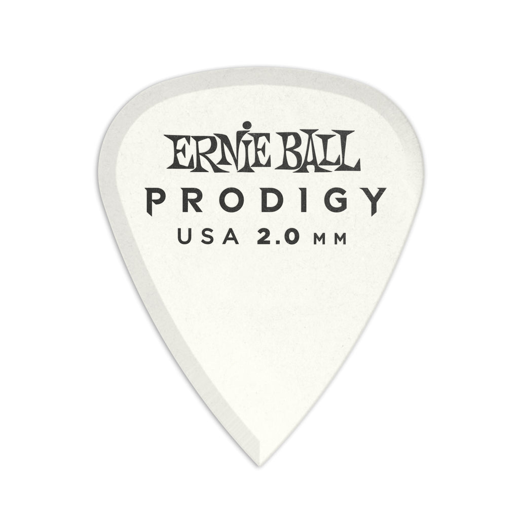 Ernie Ball 2.0mm White Standard Prodigy Picks 6-pack