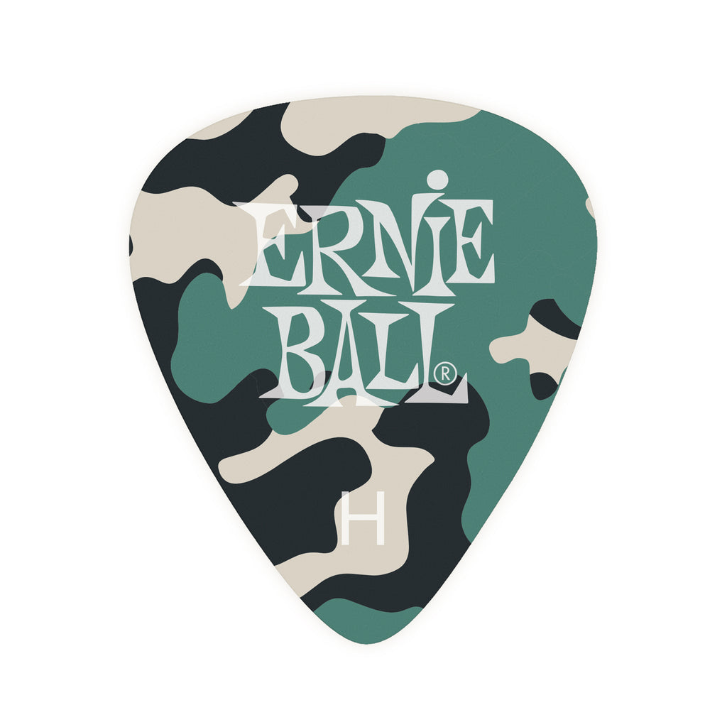 Ernie Ball Camouflage Cellulose Picks Heavy 12-pack