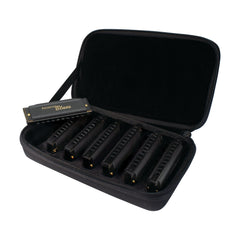 Hohner Piedmont Blues Harmonica 7 Piece Pack Keys of G, A, Bb, C, D, E, F