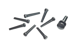 Planet Waves Injected Molded Bridge Pins with End Pin, Set of 7, Black