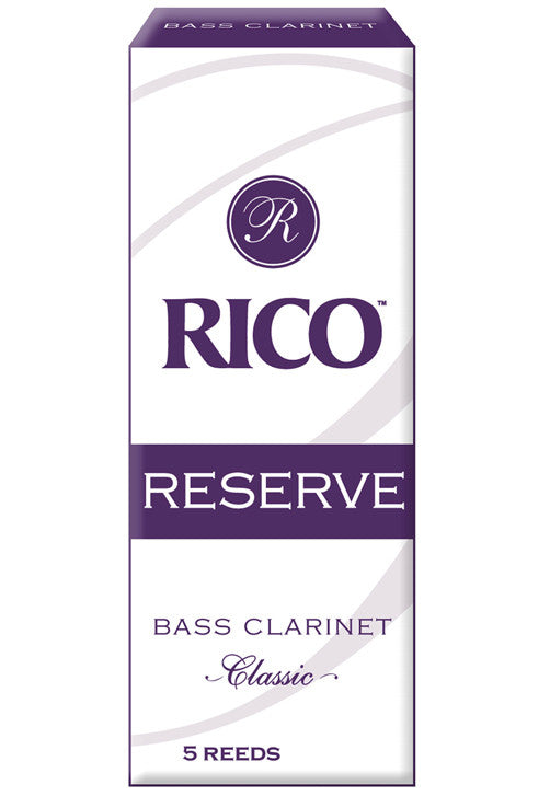 Rico Reserve Classic Bass Clarinet Reeds, Strength 3.5+, 5-pack