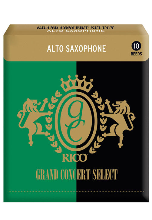 Rico Grand Concert Select Alto Saxophone Reeds, Strength 2.5, 10-pack