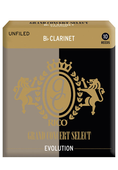 Rico Grand Concert Select Evolution Bb Clarinet Reeds, Strength 5.0, 10-pack
