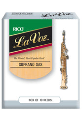 La Voz Soprano Saxophone Reeds, Strength Medium, 10-pack