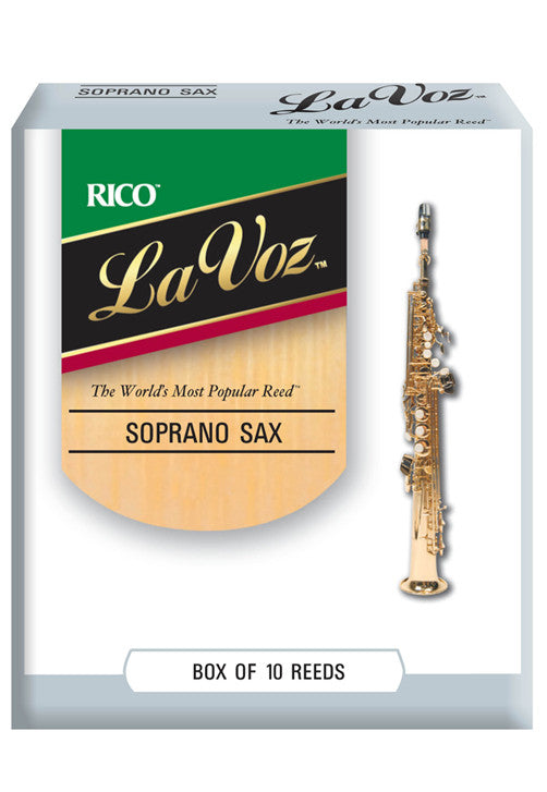 La Voz Soprano Saxophone Reeds, Strength Medium-Soft, 10-pack