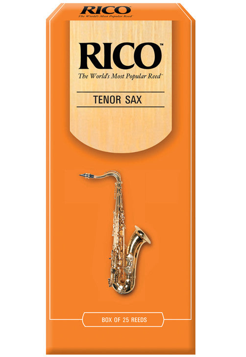 Rico Tenor Saxophone Reeds, Strength 2.5, 25-pack
