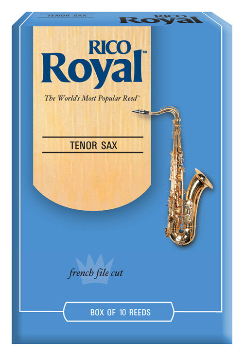 Rico Royal Tenor Saxophone Reeds, Strength 1.5, 10-pack