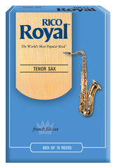 Rico Royal Tenor Saxophone Reeds, Strength 1.0, 10-pack