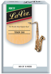 La Voz Tenor Saxophone Reeds, Strength Medium, 10-pack