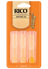 Rico Baritone Saxophone Reeds, Strength 2.5, 3-pack