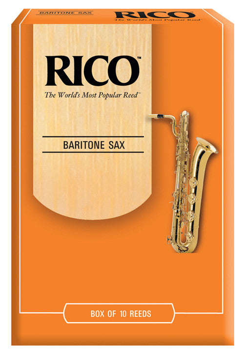 Rico Baritone Saxophone Reeds, Strength 2.0, 10-pack