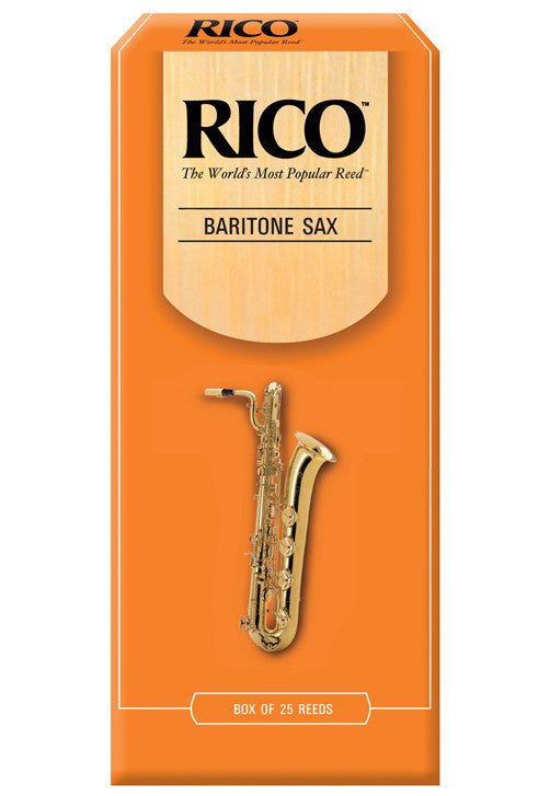 Rico Baritone Saxophone Reeds, Strength 3.0, 25-pack
