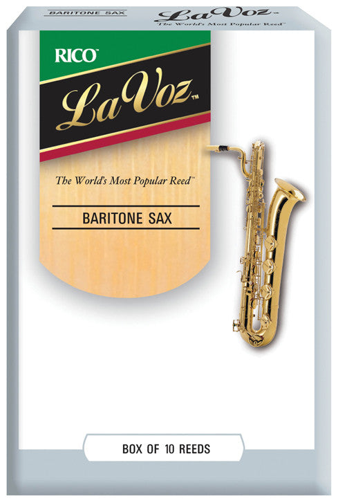 La Voz Baritone Saxophone Reeds, Strength Medium-Hard, 10-pack