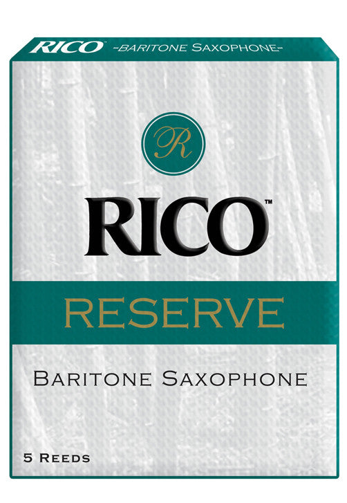Rico Reserve Baritone Saxophone Reeds, Strength 4.5, 5-pack