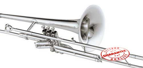 Rossetti Bb Piston Valve Trombone Nickel Plated