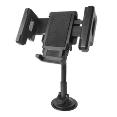 D'Luca Car Windshield Goose Neck Cell Phone Mount Adjusts 2 to 4.5 Inches, Black