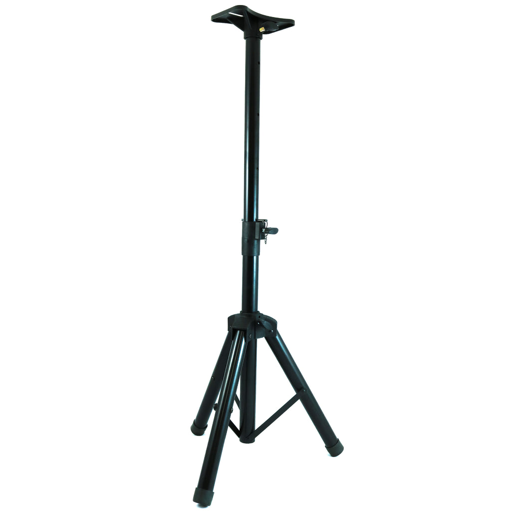 D'Luca Tripod Speaker Stand Mount, Adjustable Height 36 To 80 Inches, Black