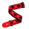 D'AddarioWoven Guitar Strap, Tartan - Red, Black, and White