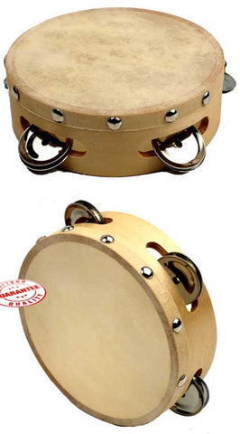 D'Luca Tambourine 6 Inches with Head