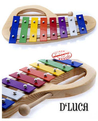 D'Luca 8 Notes Rainbow Xylophone Glockenspiels with Music Cards