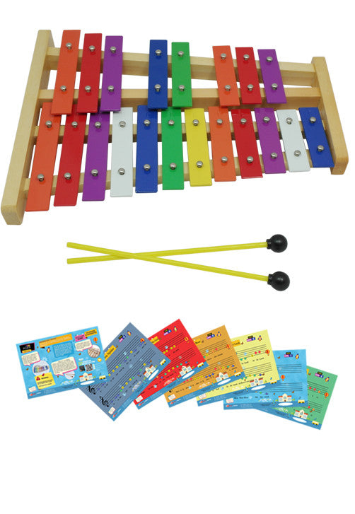 D'Luca 20 Notes Full Chromatic Xylophone Glockenspiel with Music Cards