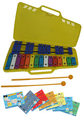 D'Luca 25 Notes Full Chromatic Xylophone Glockenspiel with Music Cards