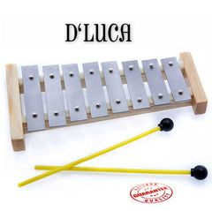 D'Luca 8 Notes Children Xylophone Glockenspiels with Music Cards