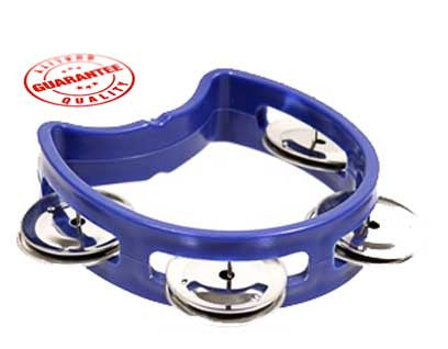 D'Luca 4 Inches Child's Tambourine Blue