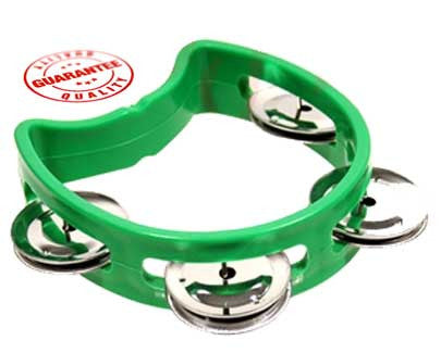 D'Luca 4 Inches Child's Tambourine Green