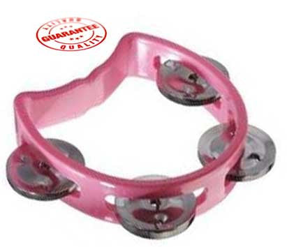 D'Luca 4 Inches Child's Tambourine Pink