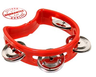 D'Luca 4 Inches Child's Tambourine Red