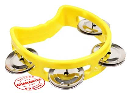 D'Luca 4 Inches Child's Tambourine Yellow
