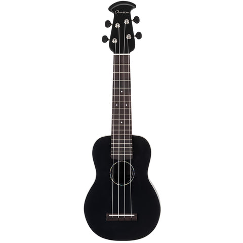Ovation Americana Collection Soprano Ukulele Mid Depth, Black Satin