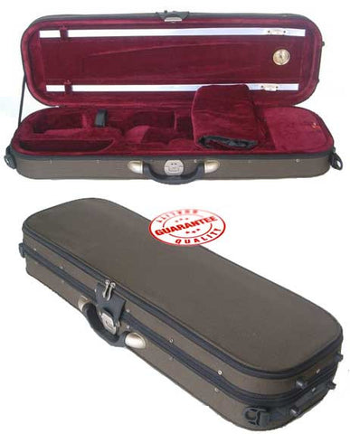D'Luca Pro Oblong Full Size 4/4 Violin Case With Hygrometer
