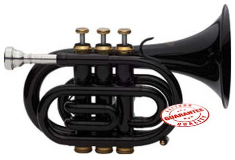 Fever Black Pocket Trumpet With Case