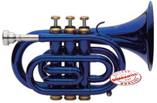Fever Blue Pocket Trumpet With Case